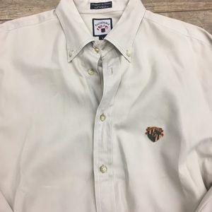 Faconnable button down shirt L